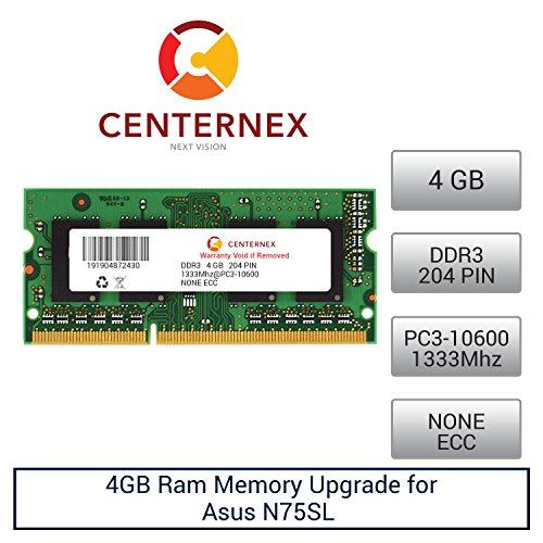 4GB RAM Memory for Asus N75SL (DDR310600) Laptop Memory U...