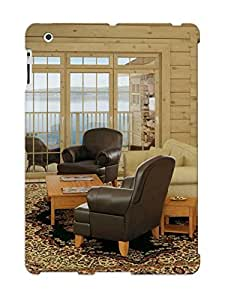 CxVacwj387LFkVc Living Room In A Wooden House Protective Case Cover Skin/ipad 2/3/4 Case Cover Appearance