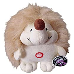 Pet Qwerks Plush Hedgehog Interactive Dog Toy with CUTE CHATTERING ELECTRONIC SOUNDS
