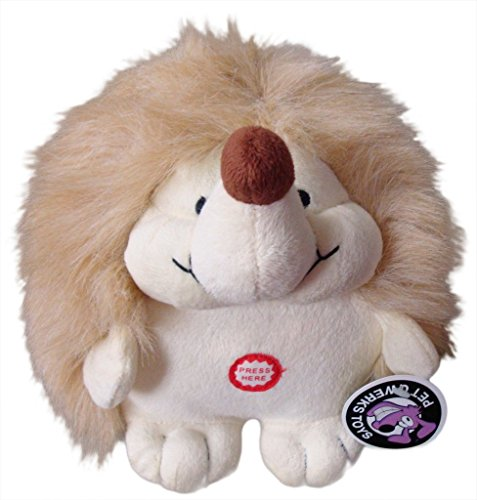 Pet Qwerks Plush Hedgehog Interactive Dog Toy with CUTE CHATTERING ELECTRONIC SOUNDS (Best Toys For Hedgehogs)