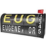 NEONBLOND EUG Airport Code for Eugene, OR Magnetic Mailbox Cover Custom Numbers