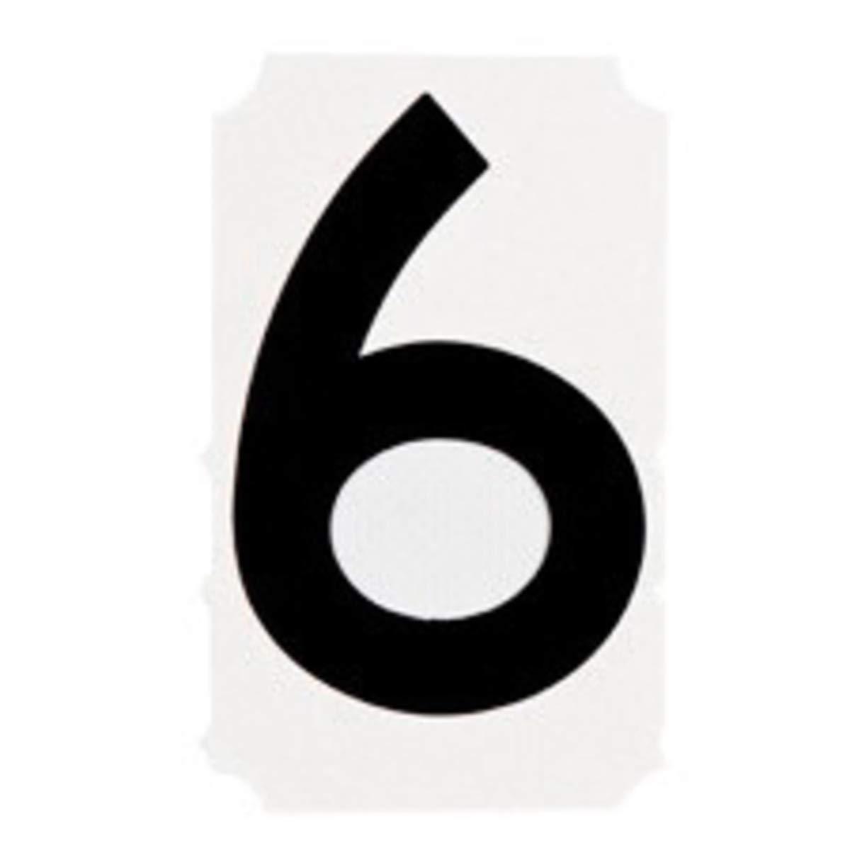 Brady 4'' Black Quik-Align Vinyl Label''6''
