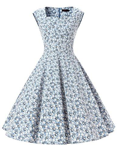 Buy light blue 50s dress - 8
