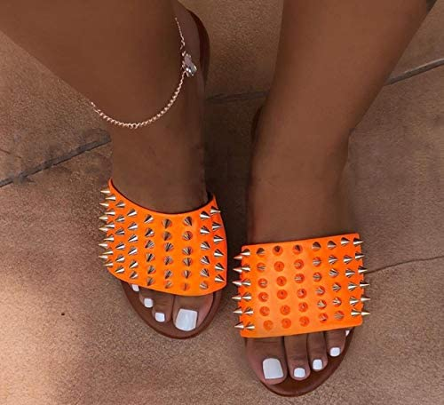 ANLW Frauen Nagel-Sandelholz-Schuhe, Cortex Flache Sandalen, Sommer-Strand-Reise-Schuhe für Freundinnen und Mutter beiläufigen Wanderurlaub
