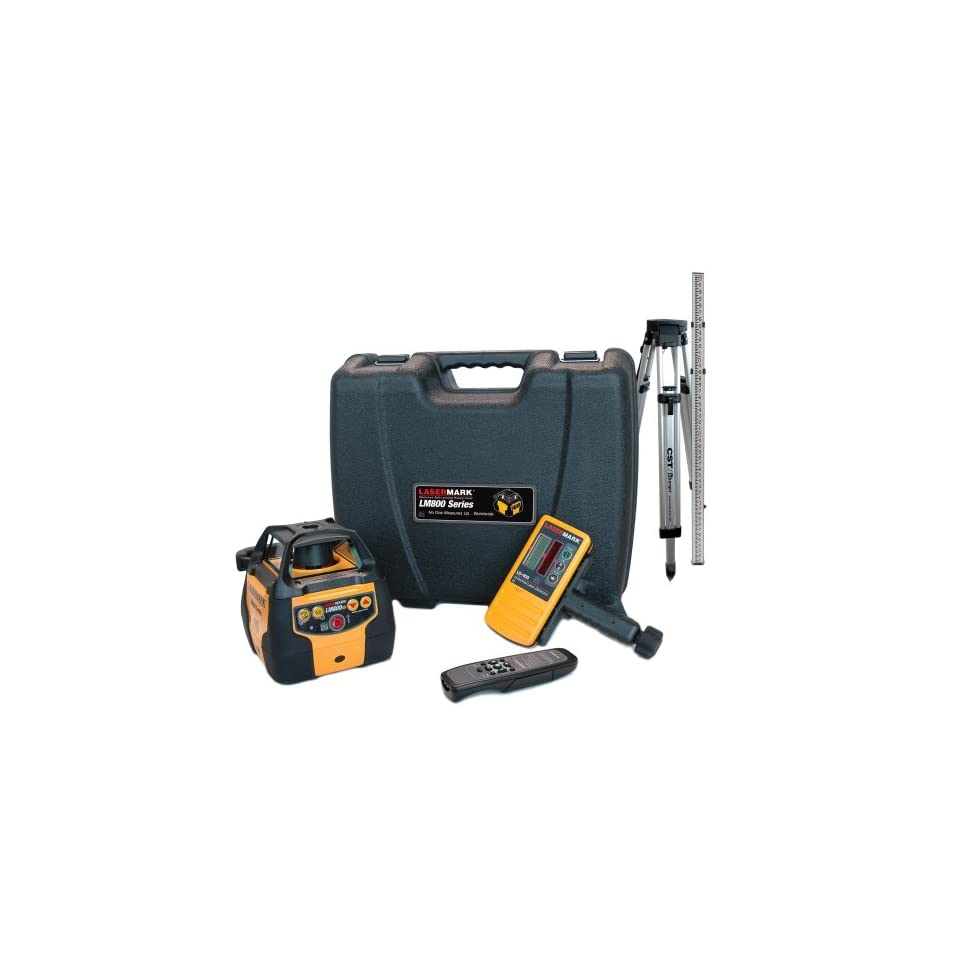 CST/berger 57 LM800GRPKG Automatic Self Leveling Rotary Laser Level Complete Package
