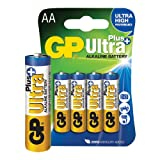 GP BATTERIES GP15AU(P)-C4 Non-rechargeable Battery, Ultra, Pack of 4, Alkaline, 1.5 V, AA (5 pieces)