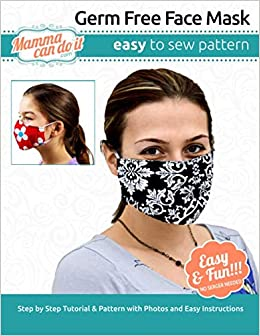 Germ Free Face Mask Pattern Children Adult Sizing Singler