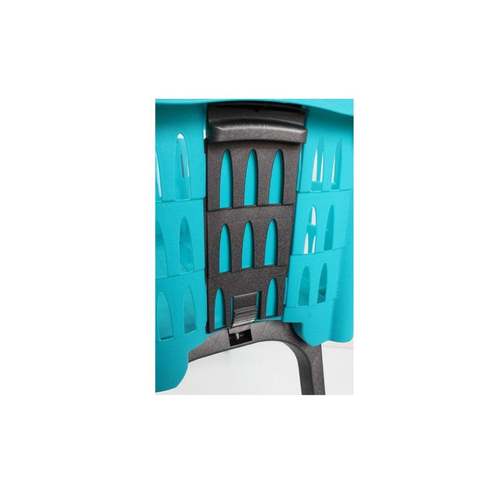 Laundry Basket With Folding Legs Wash Hamper Storage Washing Bin Plastic Blue