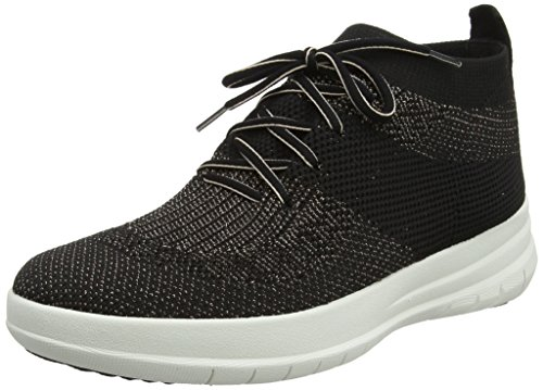 Fitflop Women Uberknit Slip-on Hi Top Sneaker, Multicolour (Black/Bronze Metallic 501), 8 UK (42 EU)