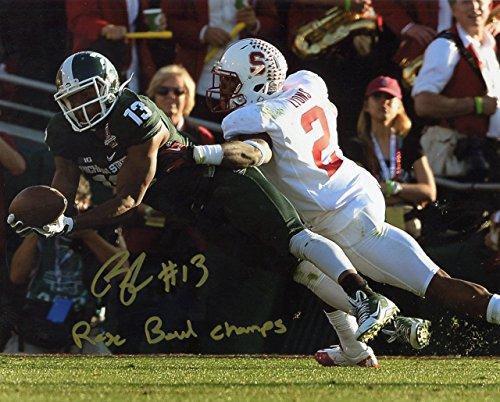 (Bennie Fowler Michigan State Spartans NCAA Autograph 8x10 Photo Rose Bowl)