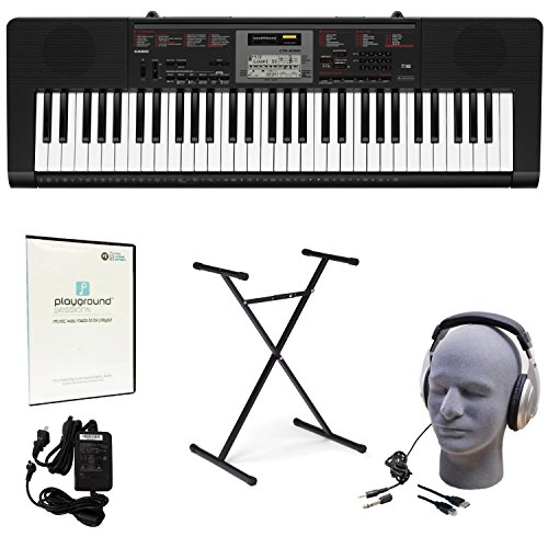 Casio CTK-2090 Learn-To-Play Quincy Jones Keyboard Pack with