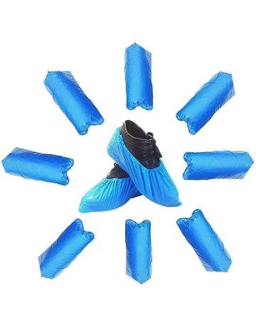 Azul Überschuhe con antideslizante suela CPE resistente al agua | Onesize | resistente a la rotura