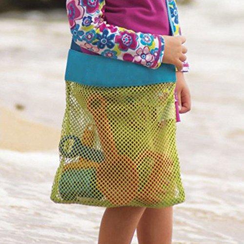 MIJORA-Large Mesh Bag Storage for Kids toys Outdoor Travel Messenger Bag Beach Children