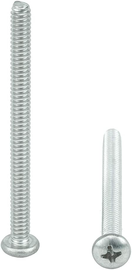Bright Finish Full Thread Machine Thread Quantity 25 by Bridge Fasteners #6-32 x 3//4 Pan Head Machine Screws Phillips Drive Stainless Steel 18-8