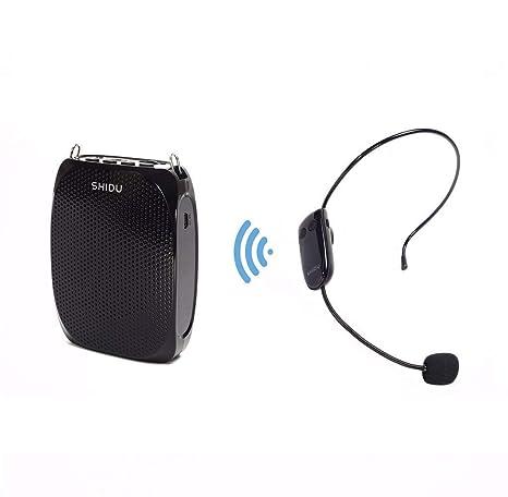SHIDU Micrófono inalámbrico, altavoz con Hi-Fi INTERIOR, sistema de sonido, con