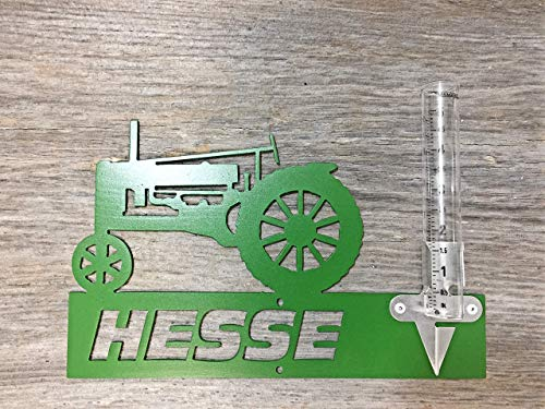 - Mountable Metal Tractor Outdoor Rain Gauge Yard Garden Farm Last Name Customized Personalized Sign