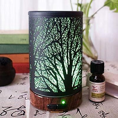 Sguan-wu Sombra de árbol de luz LED de Colores Humidificador de Aire purificador de Silencio Difusor de Aroma de ...