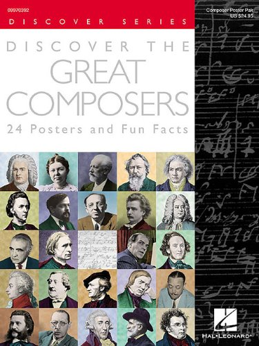 Discover the Great Composers Set of 24 Posters : Poster Pack ...