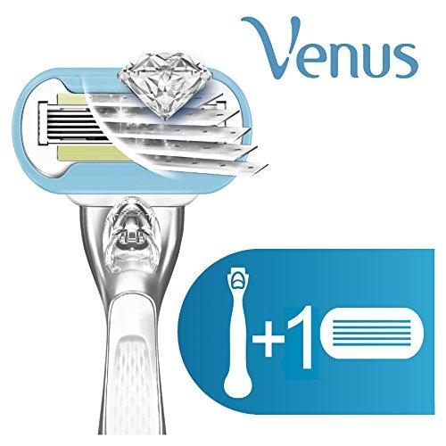 Gillette Venus Platinum Extra Smooth Metal Handle Women's Razor - 1 Handle + 1 Refill