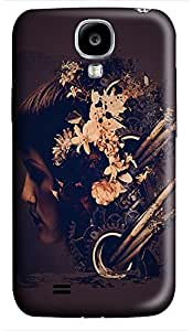 for sale Samsung S4 case Abstract Grunge Flower Head 3D cover custom Samsung S4