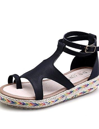 lfnlyx Femme Chaussures Plateforme Gladiateur en microfibre/bout rond/Sandales à bout ouvert pour femme Noir/marron/vert/blanc Blanc blanc us6 / eu36 / uk4 / cn36