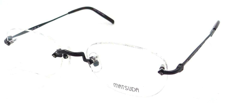 e16ef5528b0 Amazon.com  Matsuda M3014C MBK Eyeglasses Frames 51-20-145 Matte Black  Titanium Rimless  Clothing