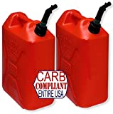BILLET4X4 (Pair) SCEPTER 5 Gallon POLYETHYLENE GAS CANS (DOT, CARB and EPA approved for all 50 states)