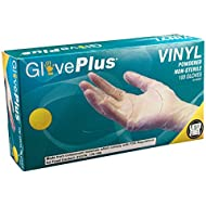 AMMEX - IV - Vinyl Gloves - GlovePlus - Disposable, Powdered, Non-Sterile, 4 mil, Clear