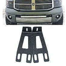 UNI FILTER 20 22 inch Straight Dual or Single led Light Bar Front Hidden Bumper Mount Mounting Brackets For 2003-2016 Dodge Ram 2500/3500