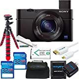 Sony Cyber-shot DSC-RX100 III Digital Camera + 2x 32GB SD Card + SD Card Reader + SD Card Wallet + Flexible Tripod + Micro HDMI + Replacement Battery + Soft Padded Case + Microfiber Cleaning Cloth