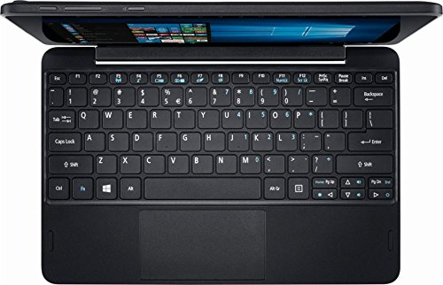 Acer One 10.1 Inch Flagship Edition Tablet Laptop with Keyboard Intel Atom Quad-core Processor 2G RAM 32G Storage Windows 10 bundle with woov sleeve by Acer (Image #1)