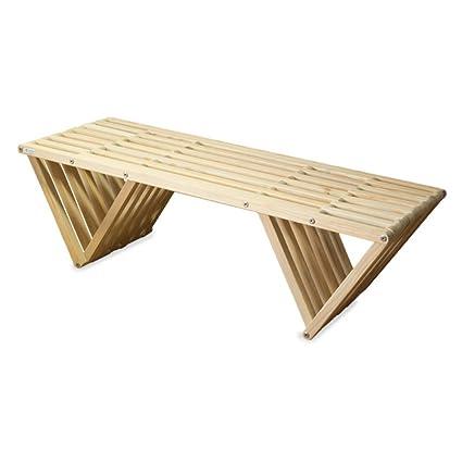 Swell Glodea Xquare X90 Wooden Backless Garden Bench Spiritservingveterans Wood Chair Design Ideas Spiritservingveteransorg