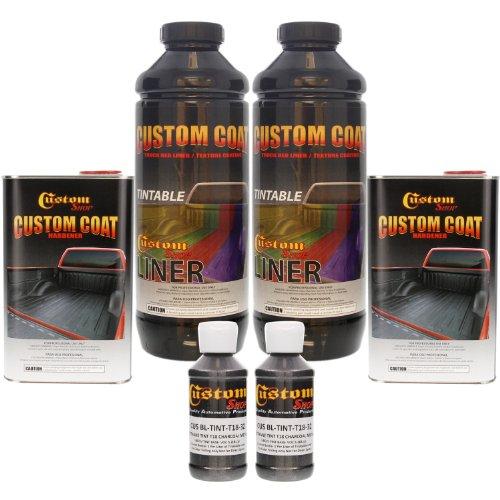 (Custom Coat CHARCOAL METALLIC 1 Liter Urethane Spray-On Truck Bed Liner Kit)
