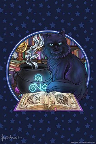 Black Cat Magick by Brigid Ashwood Art Print Poster