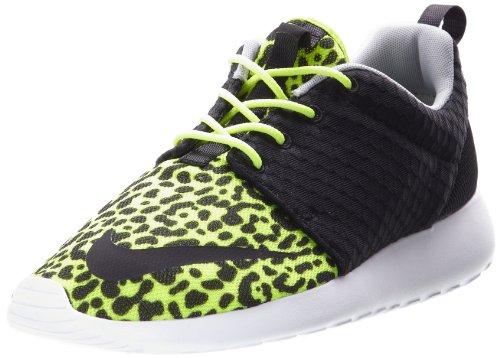 Nike Men's Rosherun FB, LEOPARD-VOLT/BLACK-WHITE, 9.5 M US