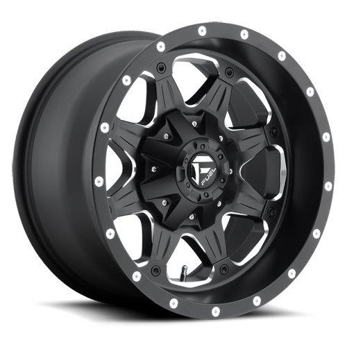 (Fuel Offroad D534 Boost 17x9 8x165.1 -12mm Black/Milled Wheel Rim )