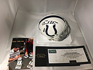 Andrew Luck Signed Autographed Indianapolis Colts Speed Mini Helmet Panini Hologram & COA W Photo Of Signing