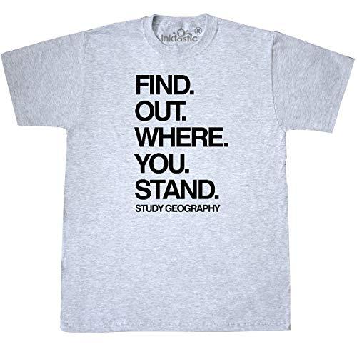 inktastic - Study Geography T-Shirt Medium Ash Grey 2a5fe