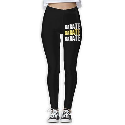 DDCYOGA Karate Karate Karate Womens Tummy Control Yoga Pants Workout Yoga Bike Pants For Girls