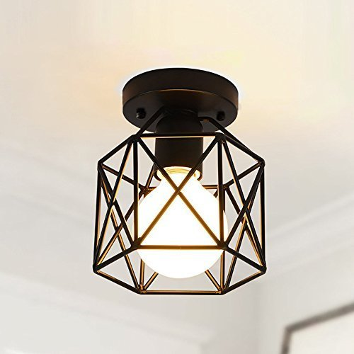 Create for Life Retro Vintage Industrial Mini Painting Metal Rustic Flush Mount Ceiling Light Pendant Light for Hallway by Create for Life (Image #8)