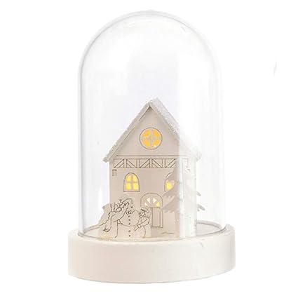 TRIXES - Bombilla LED de Madera Blanca para decoración de casa