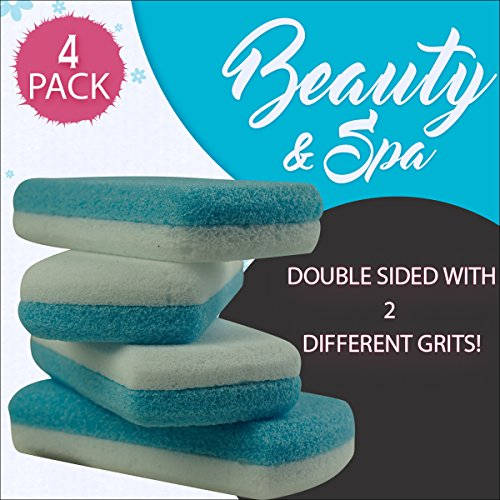4 Pumice Stones for Callus Removal for Baby soft feet. Eliminates rough scaly skin and gets your feet summer or beach ready!