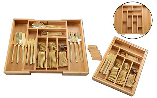 ADORN Expandable Bamboo Utility Drawer Compartments product image