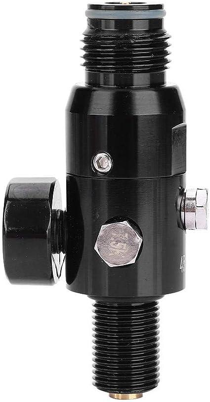 5//8-18UNF Entrada de Rosca para Paintball 4500psi Presi/ón de Salida 800-2200psi Regulador del Tanque de Aire Alomejor Regulador de Aire para Paintball
