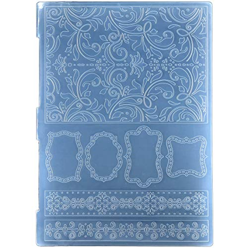Kwan Crafts Heart Butterfly Plastic Embossing Folders for Card Making Scrapbooking and Other Paper Crafts 15x15cm