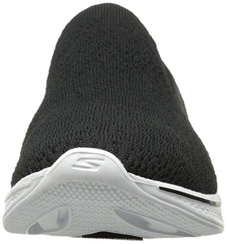 Skechers Black White 14918 Walk Womens Go 4 r6SrXq