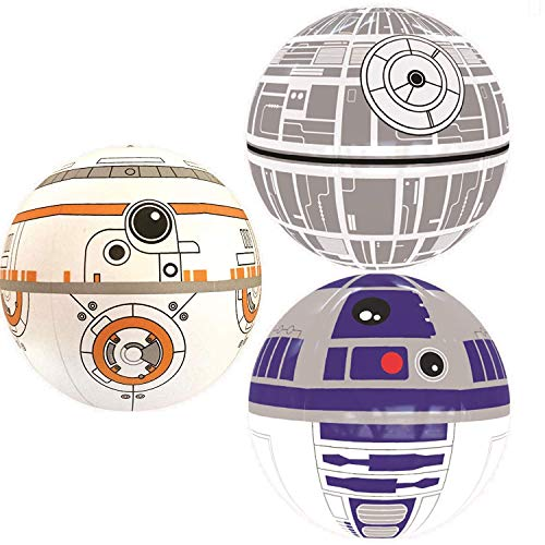 Nino-star Large Beach Ball Set of 3 - Pool Inflatable Water Toys - Fun Summer Gift -