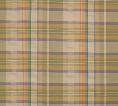 Sage Yard 10 - Van Loo Cotton Stretch Seersucker Plaid Fabric, Seerssucker Plaid Fabric, Seersucker Shirting Fabric - SAGE/LILAC / 10 Yard Bolt