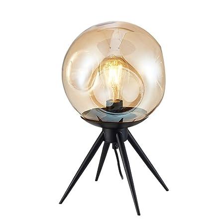 NCBH Lámpara de Mesa de Vidrio, lámpara de Escritorio Art LED ...