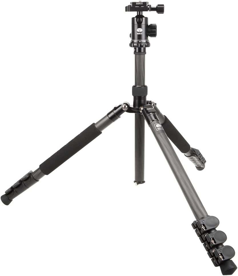 Sirui SUET1204 Carbon Fiber Tripod Kit with E-10 Ball Head and Case